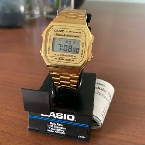 Casio Retro Watch - Gold
